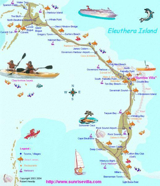 Eleuthera map