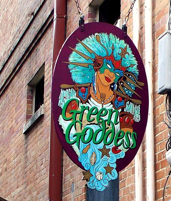 Green Goddess sign
