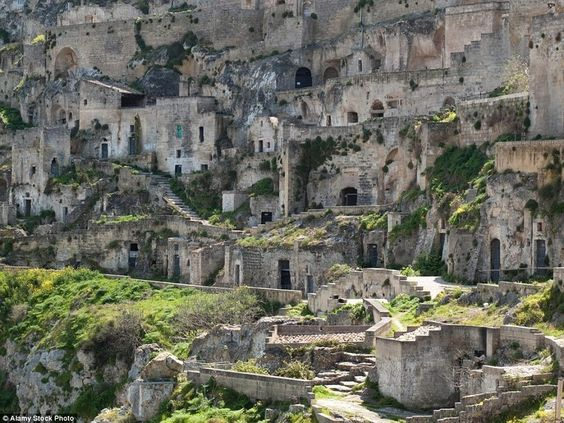 Italian cliff dwellings
